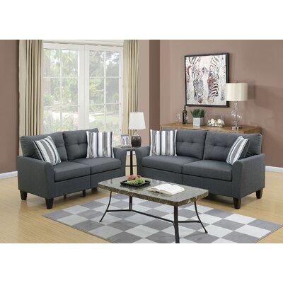 Filion 2 Piece Living Room Set Color: Charcoal