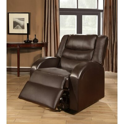 Sullins Manual Glider Recliner Uphlostery: Expresso