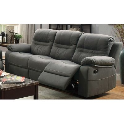 Summerall Motion Reclining Sofa Upholstery: Slate Blue