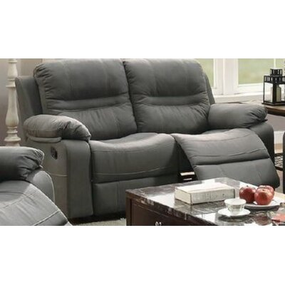 Summerall Motion Reclining Loveseat Upholstery: Slate Blue