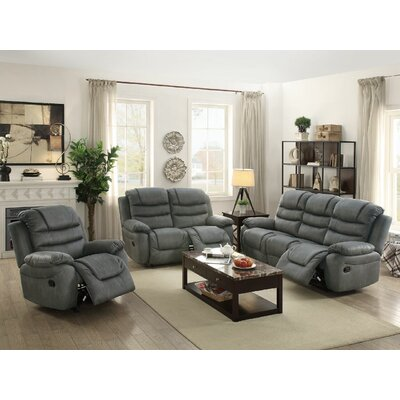 Sumpter Motion Reclining Sofa Upholstery: Slate Gray