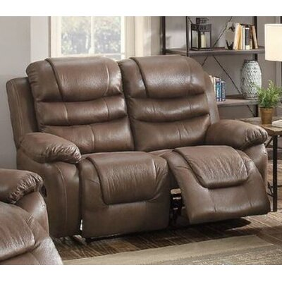 Sumpter Motion Reclining Loveseat Upholstery: Dark Coffee