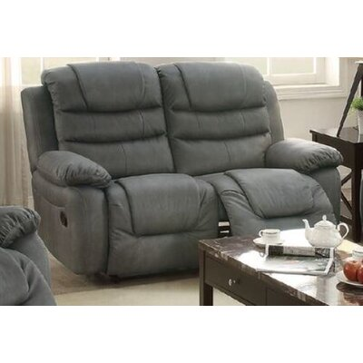 Sumpter Motion Reclining Loveseat Upholstery: Slate Gray