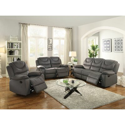 Sunderman Motion 3 Piece Living Room Set Upholstery: Slate Blue