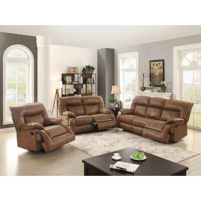 Sunset Park Motion Reclining Sofa Upholstery: Dark Brown
