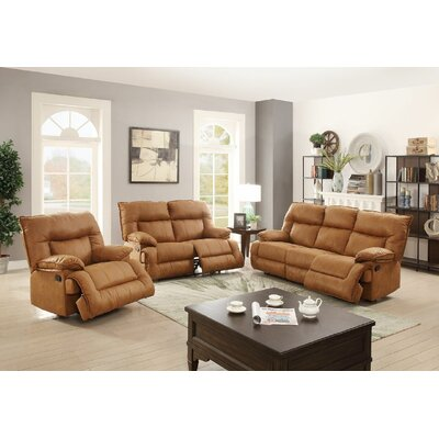 Sunset Park Motion 3 Piece Living Room Set Upholstery: Camel