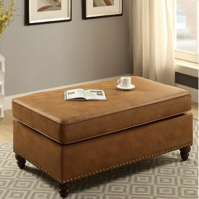 Haddix Cocktail Ottoman Upholstery: Camel