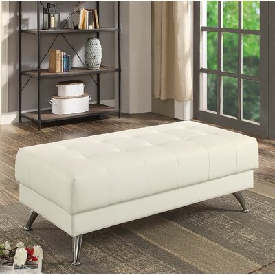 Croce Cocktail Ottoman Upholstery: White