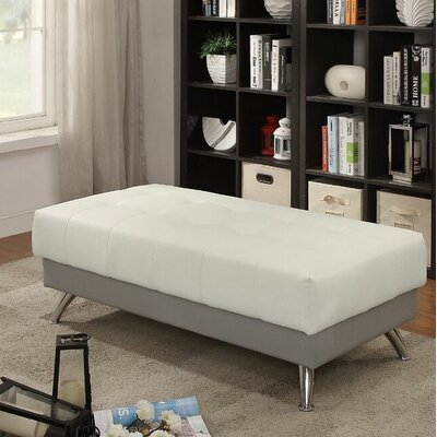 Croce Cocktail Ottoman Upholstery: White/Gray