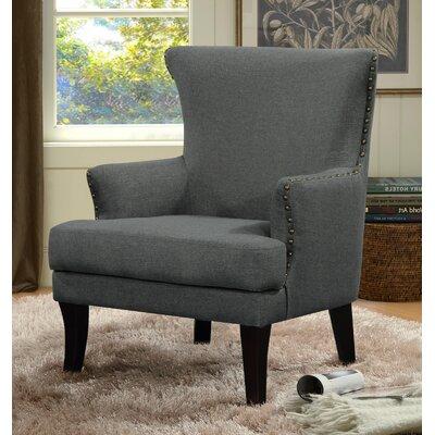 Keyes Armchair Finish: Black, Upholstery: Solid/Dark Gray