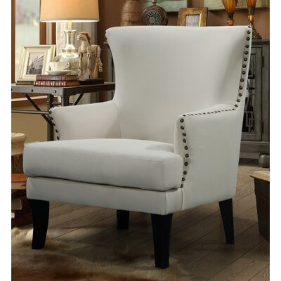 Keyes Armchair Finish: Black, Upholstery: Solid/Beige