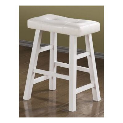 Upper Shockerwick 24 Bar Stool Color: White