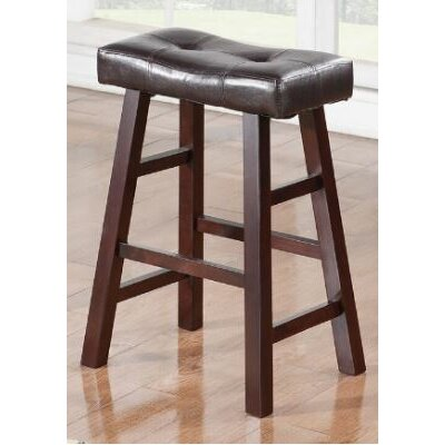 Upper Shockerwick 24 Bar Stool Color: Dark Cherry