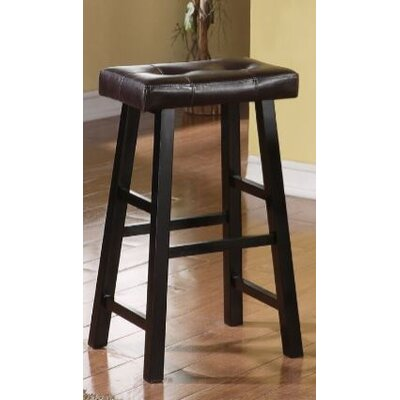 Upper Shockerwick 29 Bar Stool Color: Black