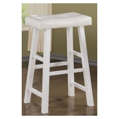 Upper Shockerwick 29 Bar Stool Color: White
