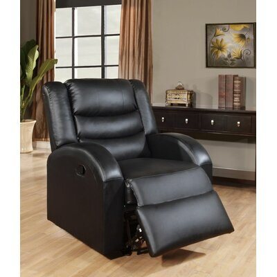 Sullins Manual Glider Recliner Uphlostery: Black