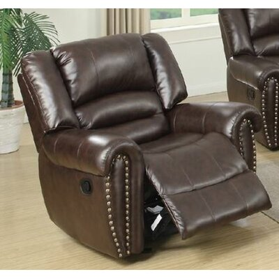 Higuchi Manual Glider Recliner Upholstery: Brown