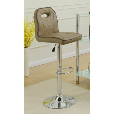 Hershman Adjustable Height Bar Stool Upholstery: Brown
