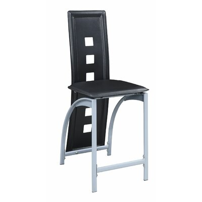 Hertzler Counter Bar Stool Upholstery: Black