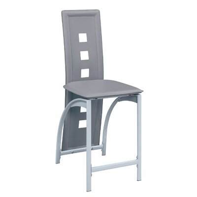 Hertzler Counter Bar Stool Upholstery: Gray