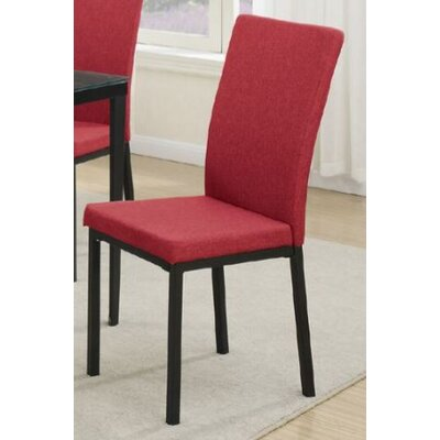 Mccrimmon Upholstered Dining Chair Upholstery Color: Red