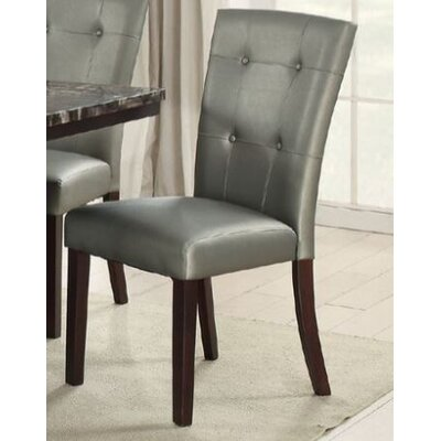 Upshaw Upholstered Dining Chair Upholstery Color: Silver