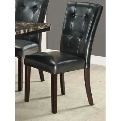 Upshaw Upholstered Dining Chair Upholstery Color: Black