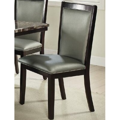 Harnden Upholstered Dining Chair Upholstery Color: Silver