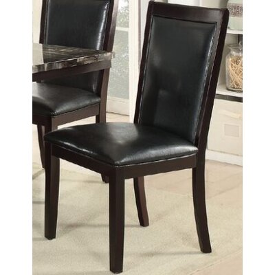 Harnden Upholstered Dining Chair Upholstery Color: Black