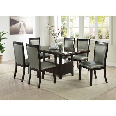 Harnden 7 Piece Dining Set Color: Silver