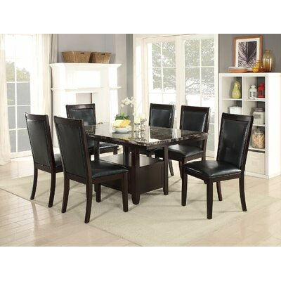 Harnden 7 Piece Dining Set Color: Black