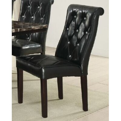 Montanez Upholstered Dining Chair Upholstery Color: Black