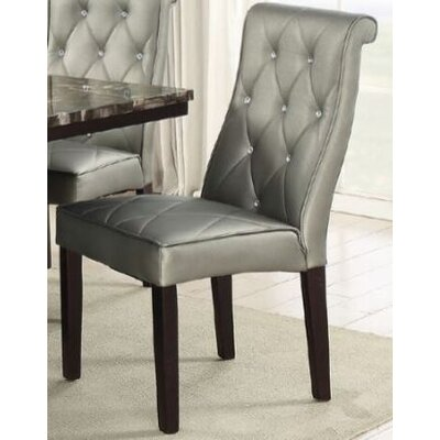 Montanez Upholstered Dining Chair Upholstery Color: Silver