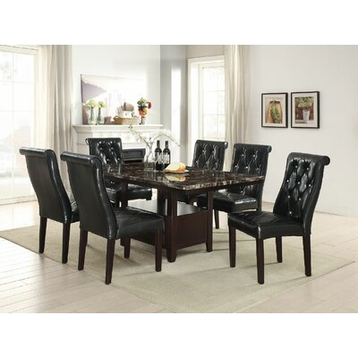 Montanez 7 Piece Dining Set Color: Black