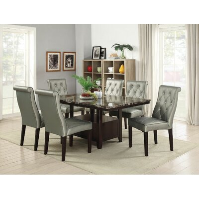 Montanez 7 Piece Dining Set Color: Silver