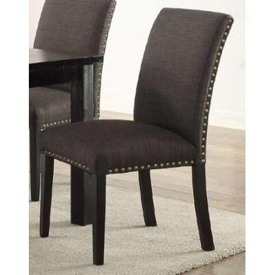 Bolivar Upholstered Dining Chair Upholstery Color: Black
