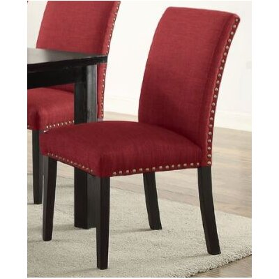 Bolivar Upholstered Dining Chair Upholstery Color: Red