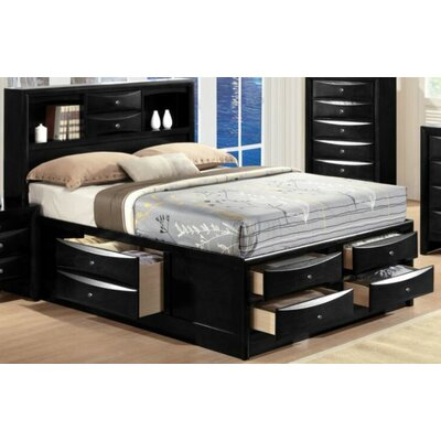 Cleary Storage Platform Bed Color: Black, Size: King
