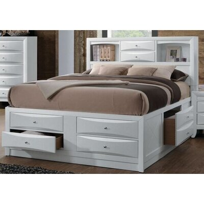 Cleary Storage Platform Bed Color: White, Size: King