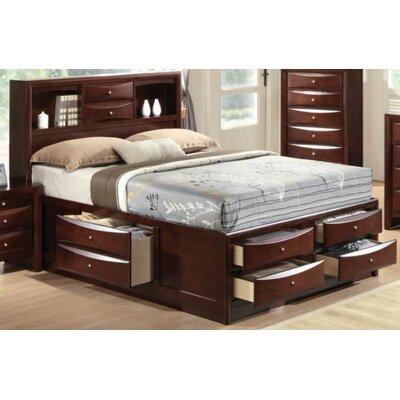 Cleary Storage Platform Bed Color: Espresso, Size: King