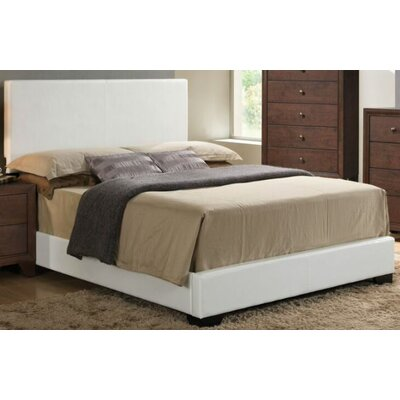 Mccree Upholstered Panel Bed Color: White, Size: Full