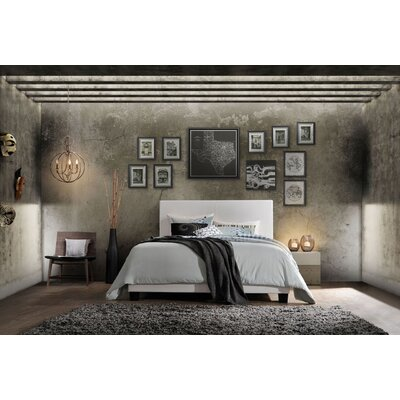 Choudhury Upholstered Panel Bed Color: White, Size: Queen