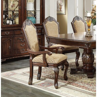 Liam Upholstered Dining Chair Color: Espresso
