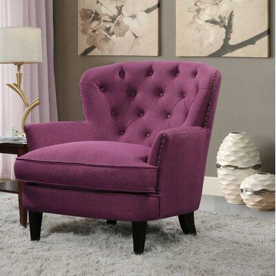 Collingdale Armchair Upholstery: Purple