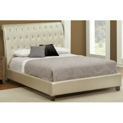 Warren Upholstered Sleigh Bed Size: King
