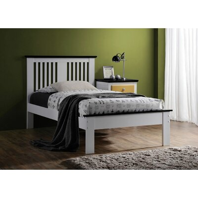 Tucci Panel Bed Size: Twin, Color: Black/White