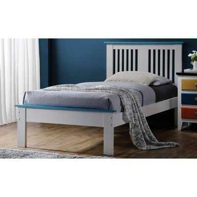 Tucci Panel Bed Size: Twin, Color: Blue/White