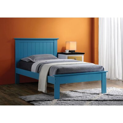 Tudor City Panel Bed Size: Twin, Color: Blue