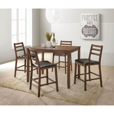 Gammage 5 Piece Counter Height Dining Set