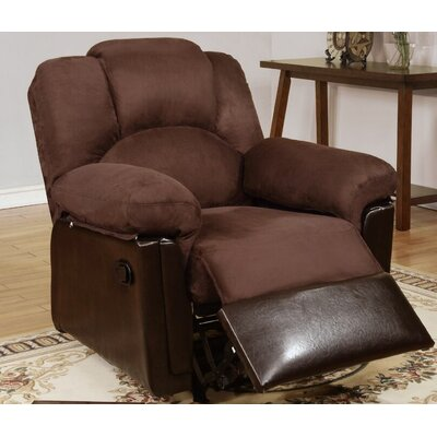 Highland Creek Manual Glider Recliner Upholstery: Chocolate